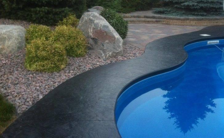 Stamped Concrete Border Around Inground Pool