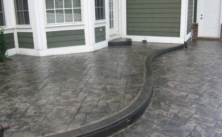 Stamped Concrete Design Ideas Texas Walkway