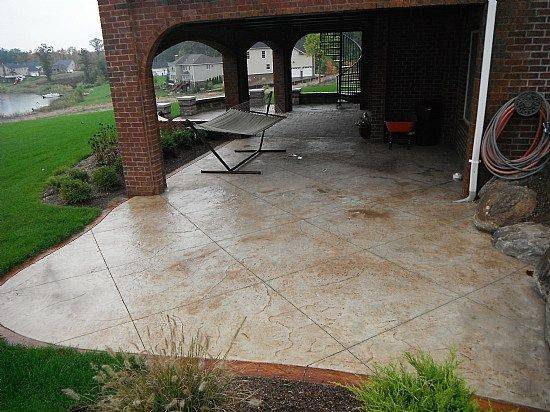 Stamped Concrete Designs Patio Pinterest