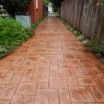 Stamped Concrete Driveway Stained