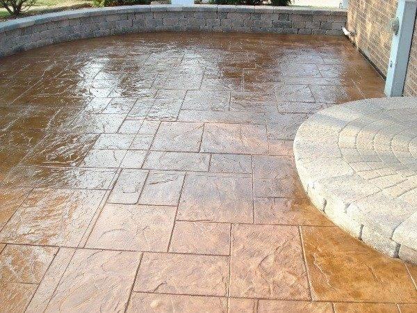 Stamped Concrete Elegant Inexpensive Flooring Solution