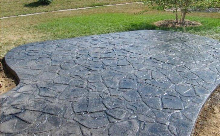 Stamped Concrete Patio Designs Overlay
