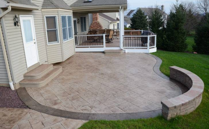 Stamped Concrete Patio Floor Design Pattern