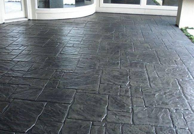 Stamped Concrete Patterns Ashlar Pattern