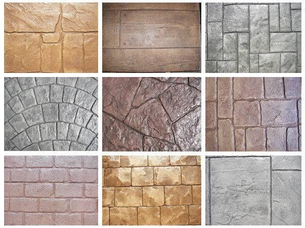 Stamped Concrete Patterns Designs Ferrazza Cement Construction