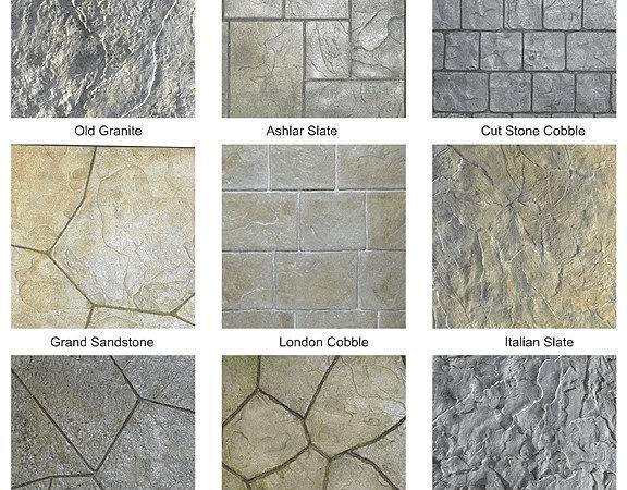 Stamped Concrete Patterns Interior Design Inspiration