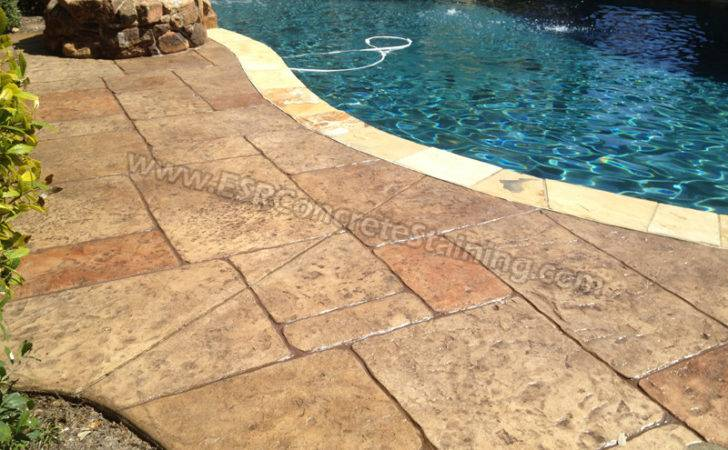 Stamped Concrete Pool Deck Frisco