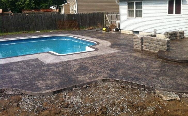 Stamped Concrete Pool Deck Patio