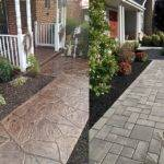 Stamped Concrete Walkway Ideas Aesthetic Addition Property