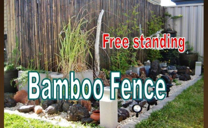 Standing Bamboo Fence Installation Garden Liz Kreate