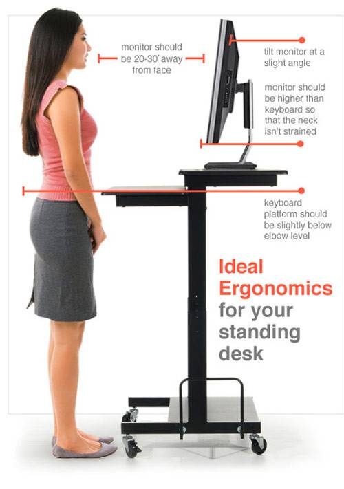 Standing Desk Stand Adjustable Height