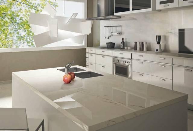 Statuario Venato Porcelain Slab Counter Kitchen Other Metro