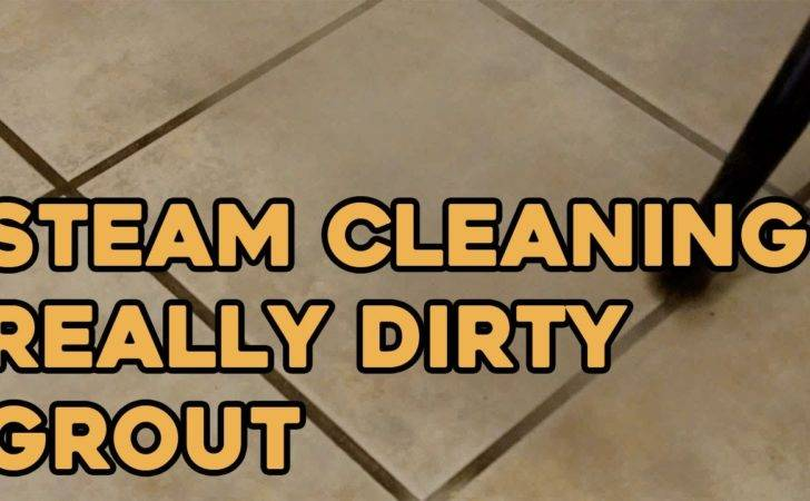 Steam Cleaning Really Dirty Grout Youtube
