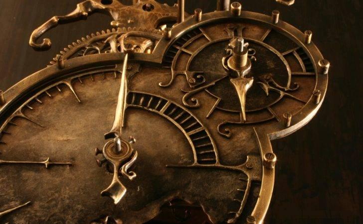 Steampunk Brown Clocks Gears