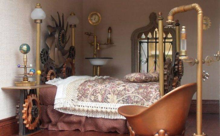 Steampunk Dollhouse Bedrooms Sets Bedroom Miniatures