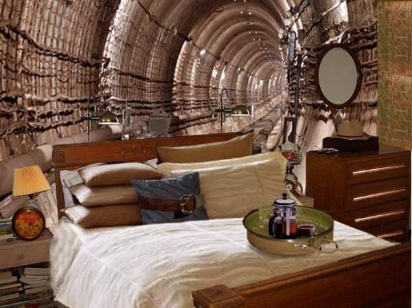 Steampunk Inspired Bedroom