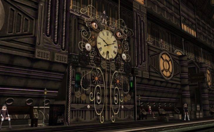 Steampunk Wall Clock Train Station Scifilicious Deviantart