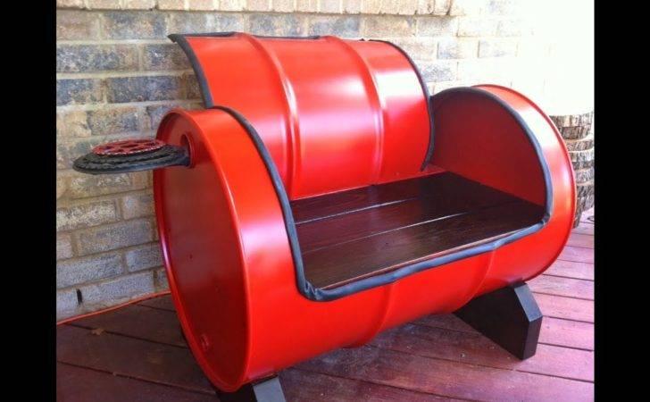 Steel Drum Furniture Youtube