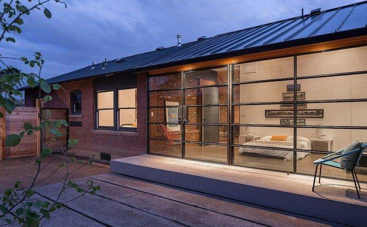 Steel Extension Sits Next Old Brick Carriage House Phoenix