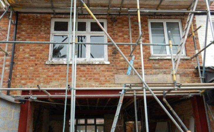 Steel Frame Terraced House Opening Into Rear Extension