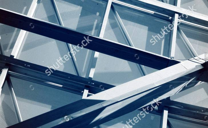 Steel Structure Glass Construction Abstract Technology