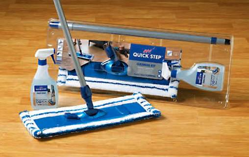 Step Cleaning Kit Maintains Beauty Luster Quick Floors
