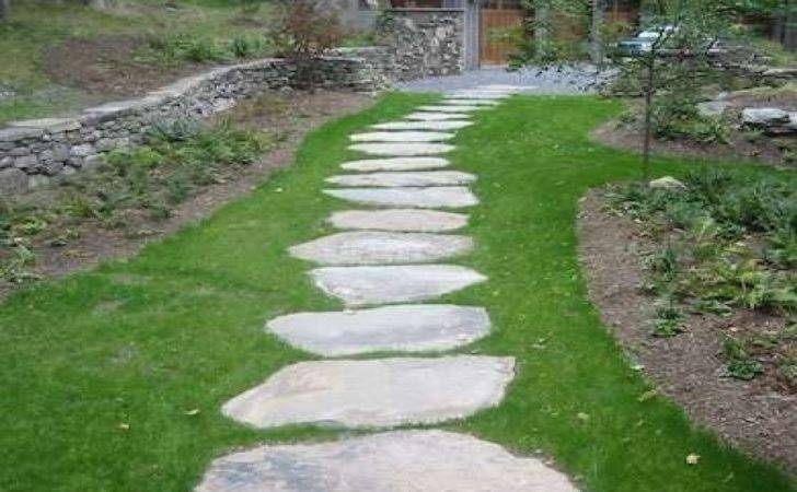 Stepping Stone Path Front Walkway Ideas
