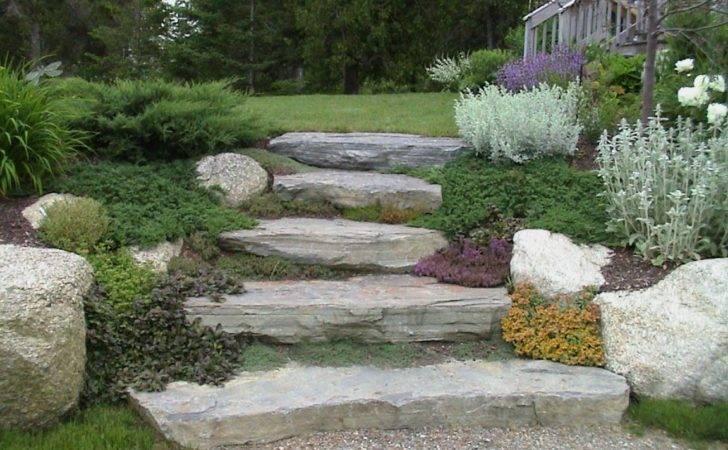 Steps Hillside Private Residence Natural Stone
