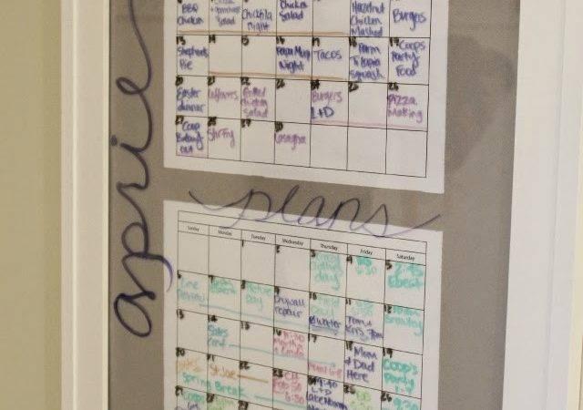 Stilettos Diapers Diy Menu Calendar Board