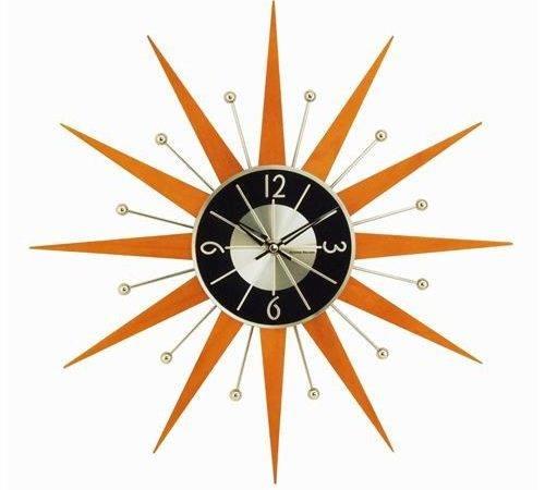 Stilnovo George Nelson Wooden Starburst Clock Wood
