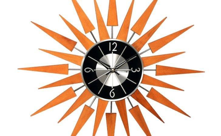 Stilnovo George Nelson Wooden Sunburst Clock Atg Stores