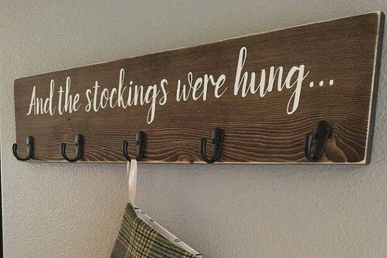 Stocking Holder Christmas Sign Stockings Were Hung