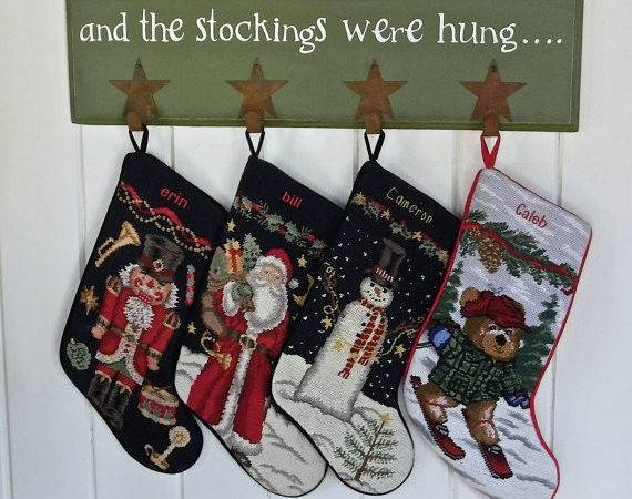 Stockings Were Hung Hand Painted Wooden Sign Cdlwin