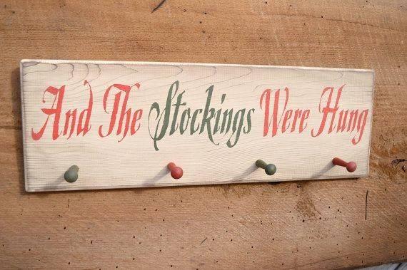 Stockings Were Hung Wooden Holder Bishopshollow