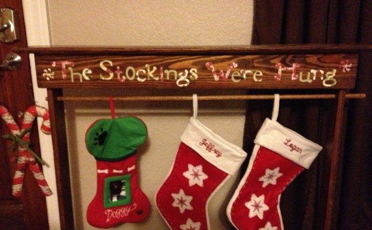 Stockings Were Hung Wooden Stocking Holder Scrapbook