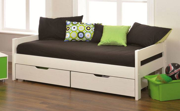 Stompa Play White Daybed Drawers Only Furniture