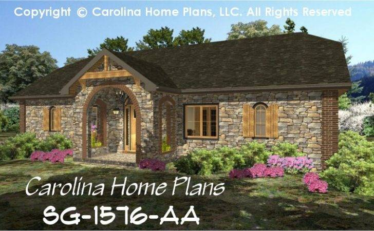 Stone Cottage House Plan Chp Affordable Small Home