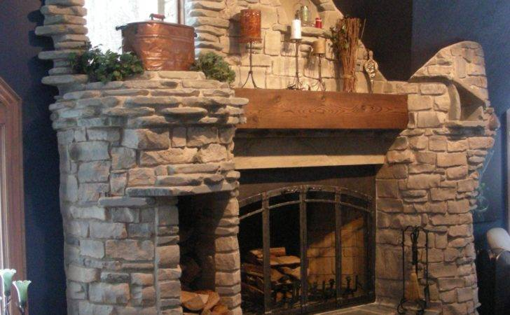 Stone Fire Places Architecture Fireplaces Vaulted Ceilings