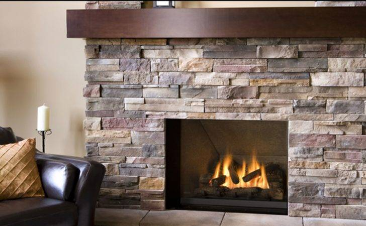 Stone Fireplace Modern Contemporary Home Living Room Informal