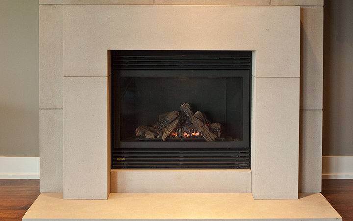 Stone Fireplace Surround Bedrock Natural