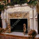 Stone Fireplaces Hand Carved Fireplace Made