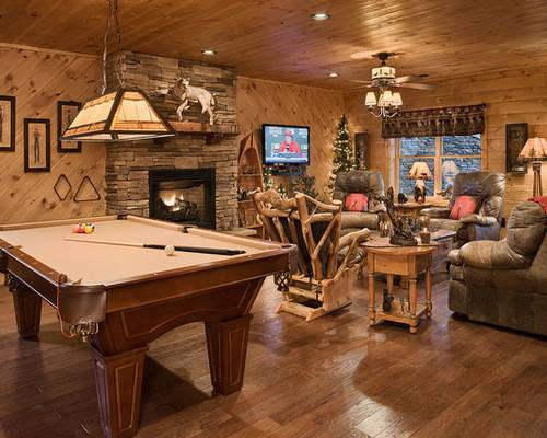 Stone Gas Fireplace Rustic Home Design Photos