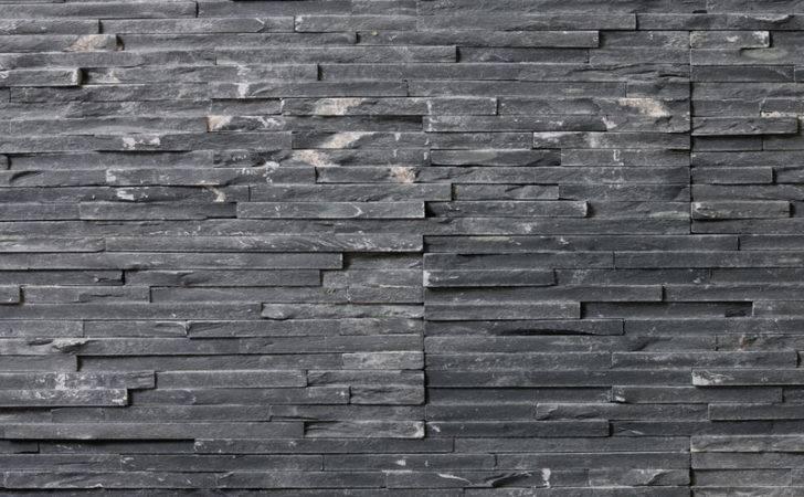 Stone Interior Black Slate Thin Contemporary