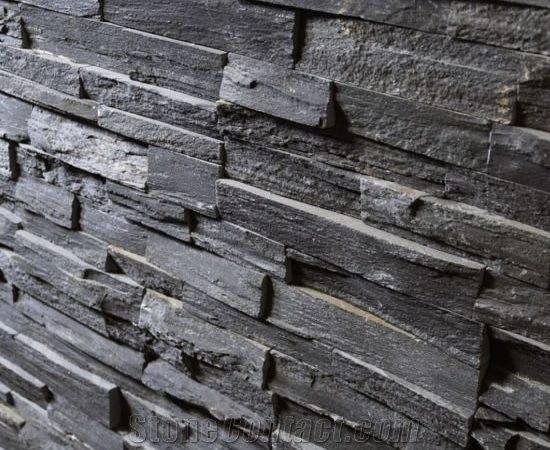 Stone Panel Stacked Grey Slate China