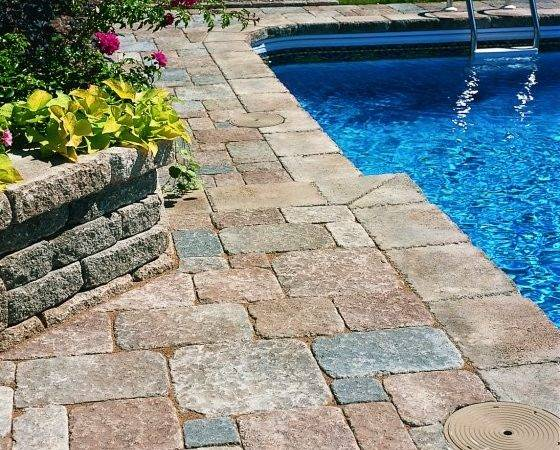 Stone Pool Deck Design Ideas Digsdigs