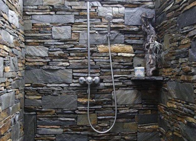 Stone Shower Design Beautiful Backyard Ideas
