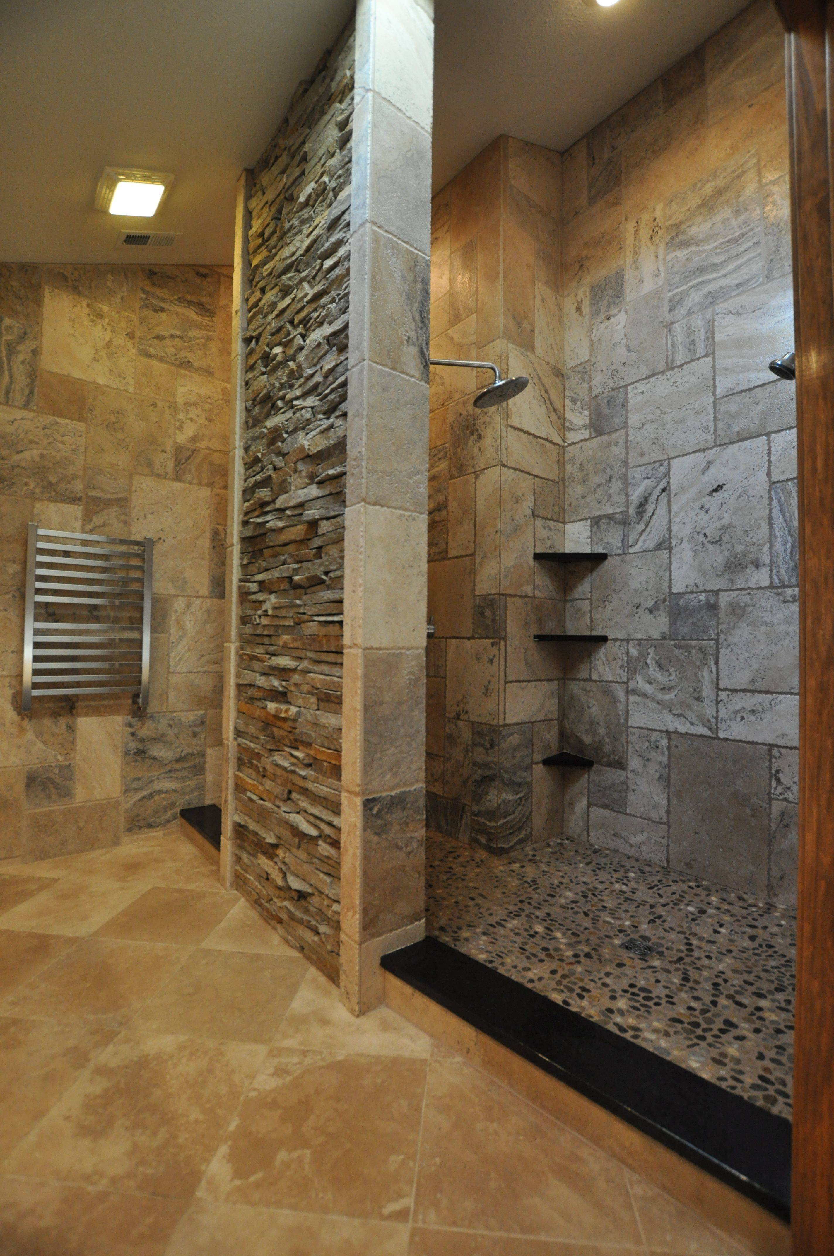 Stone Shower Natural