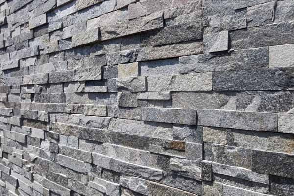 Stone Veneers Grey Stacked Covering Cultured Wall