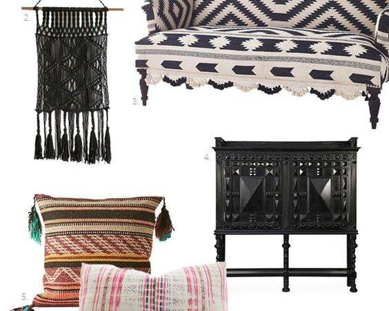 Stools Couch Twists Boho Interiors Chairs Modern Jeans Style