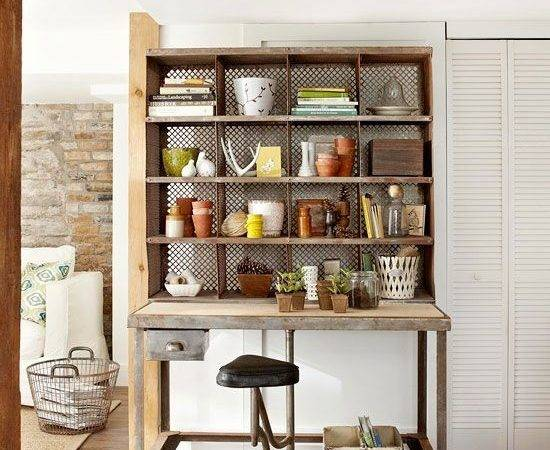 Storage Vinatge Metal Shelving Unit Serves Extra